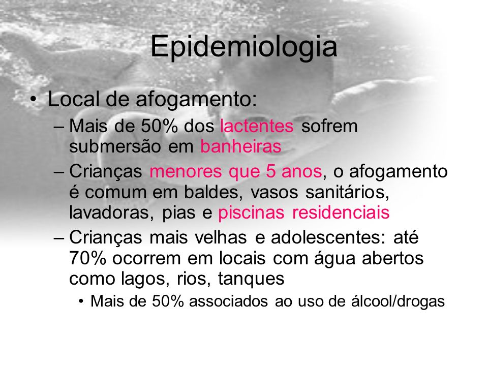 Epidemiologia Local de afogamento: