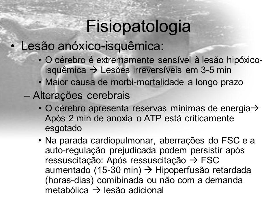 Fisiopatologia Lesão anóxico-isquêmica: Alterações cerebrais
