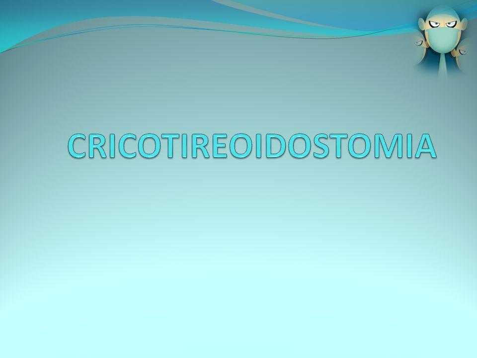CRICOTIREOIDOSTOMIA