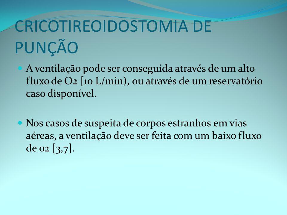 CRICOTIREOIDOSTOMIA DE PUNÇÃO
