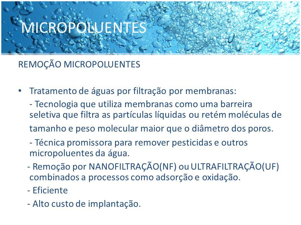 MICROPOLUENTES REMOÇÃO MICROPOLUENTES