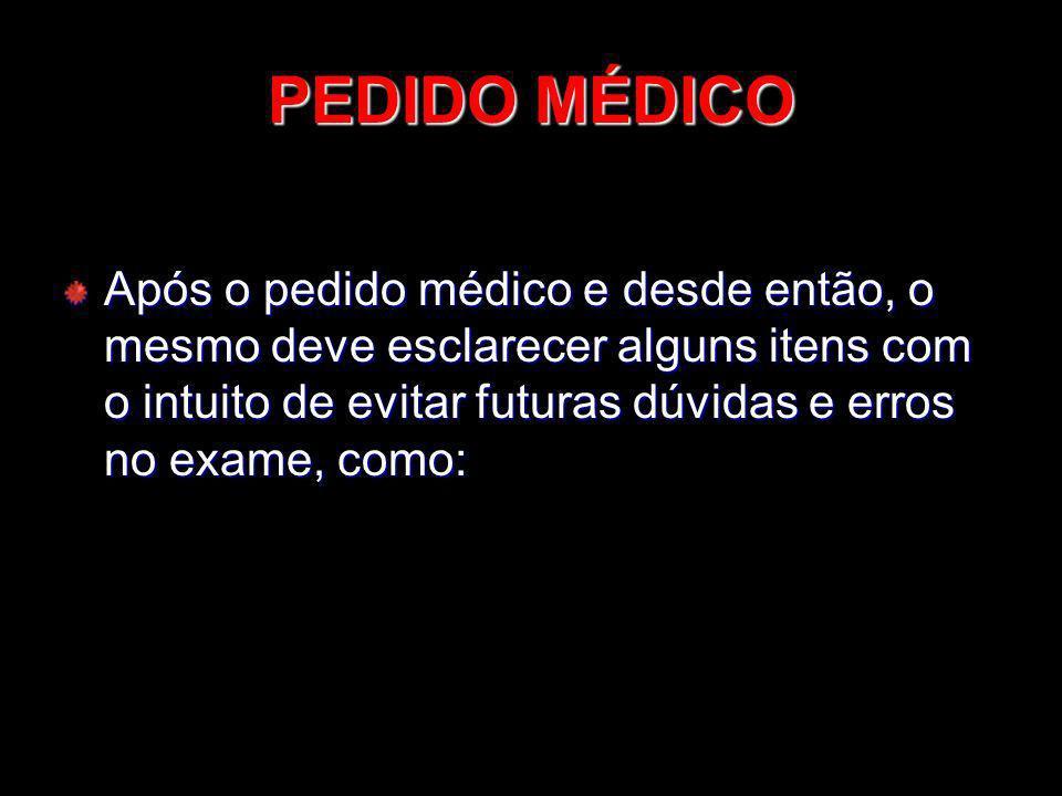 PEDIDO MÉDICO