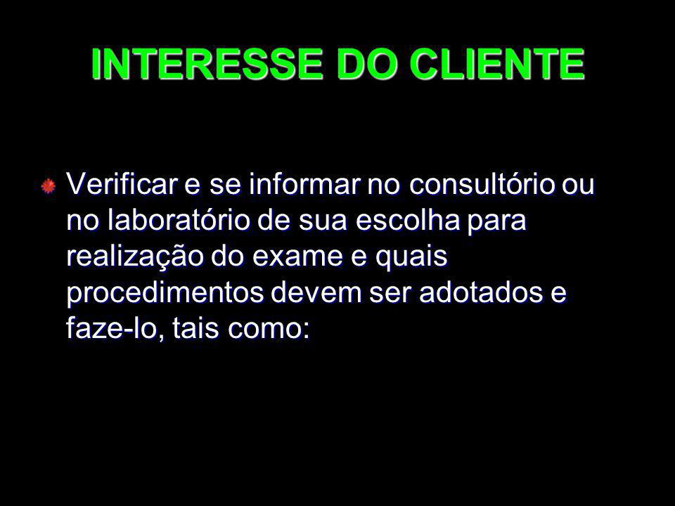 INTERESSE DO CLIENTE
