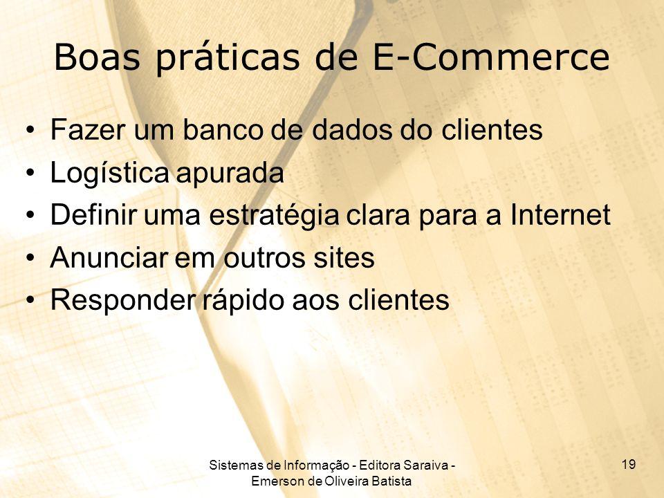 Boas práticas de E-Commerce