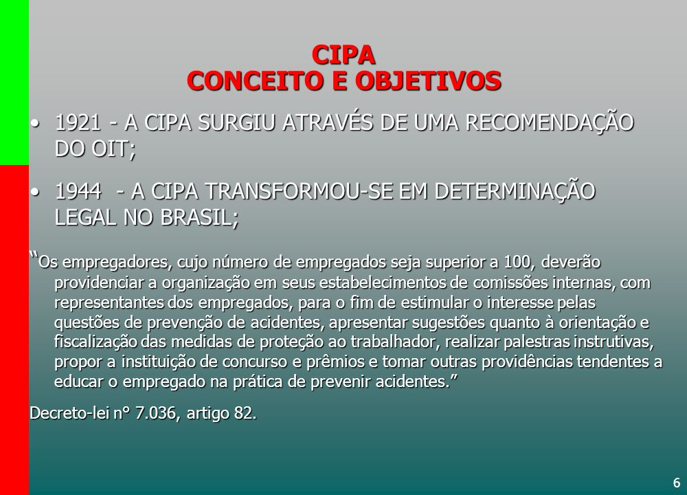 CIPA CONCEITO E OBJETIVOS