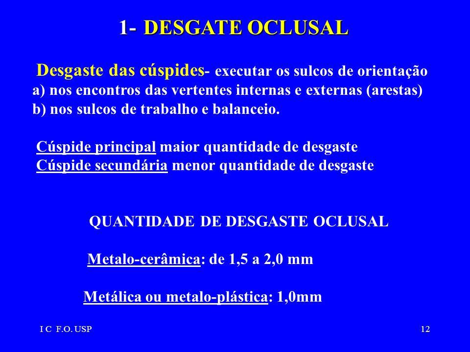 QUANTIDADE DE DESGASTE OCLUSAL
