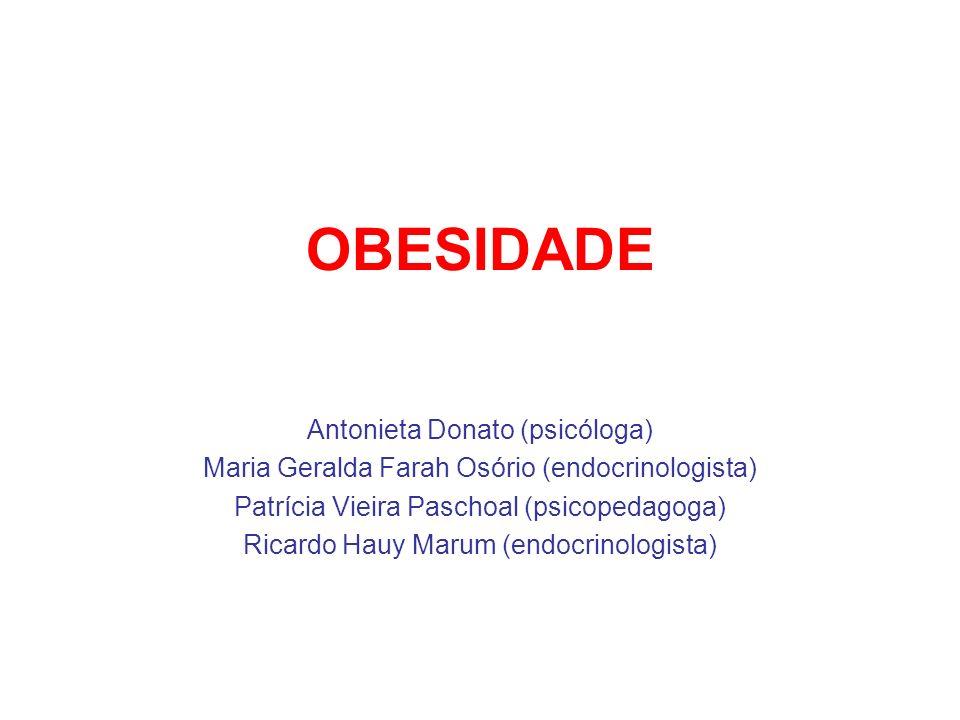 OBESIDADE Antonieta Donato (psicóloga)