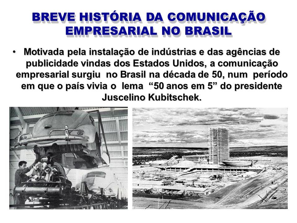 BREVE HISTÓRIA DA COMUNICAÇÃO EMPRESARIAL NO BRASIL