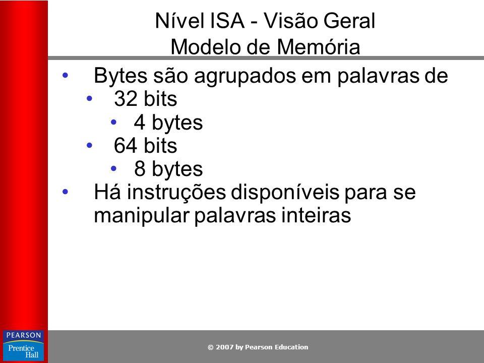 Nível ISA - Visão Geral Modelo de Memória
