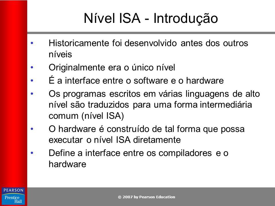 Nível ISA - Introdução Historicamente foi desenvolvido antes dos outros níveis. Originalmente era o único nível.
