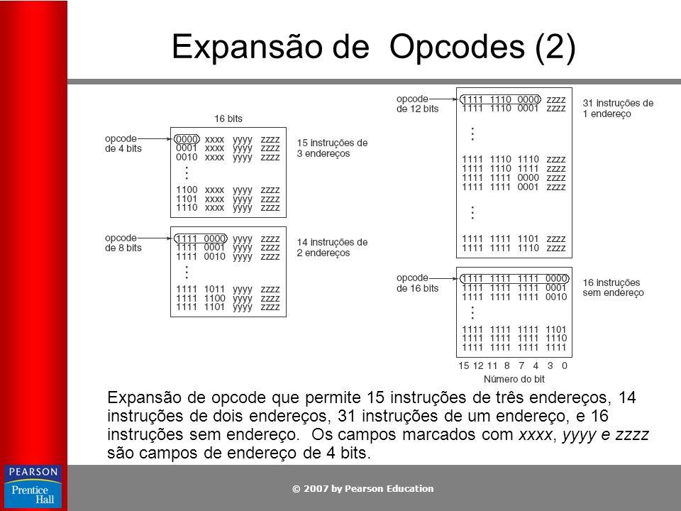 Expansão de Opcodes (2)