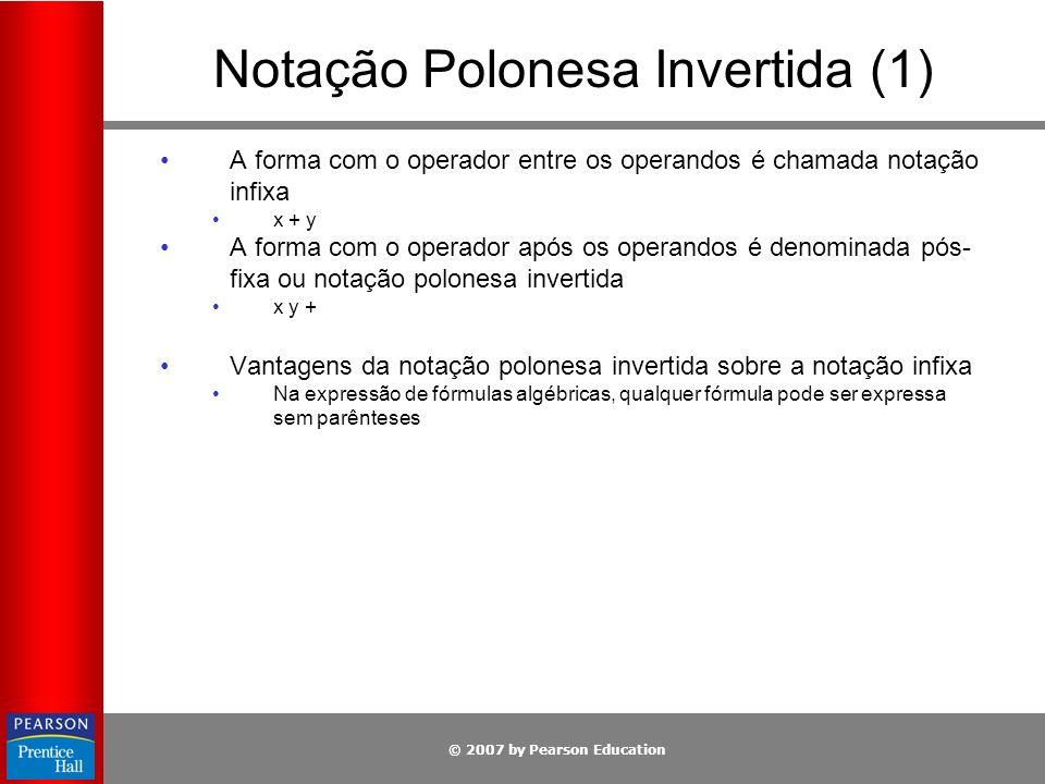 Notação Polonesa Invertida (1)
