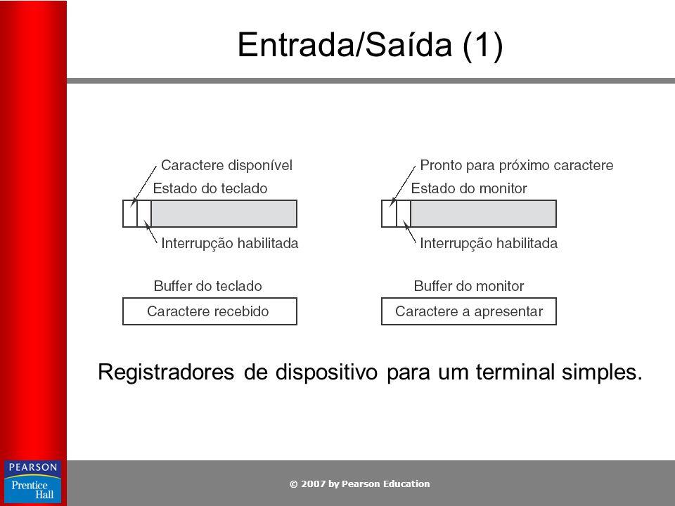 Registradores de dispositivo para um terminal simples.