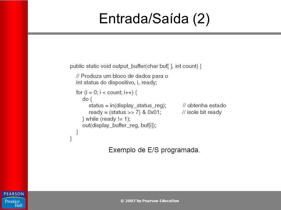 Exemplo de E/S programada.