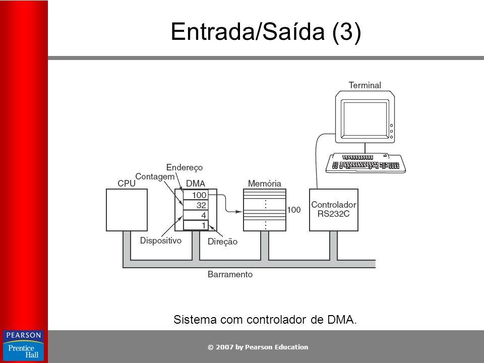 Sistema com controlador de DMA.