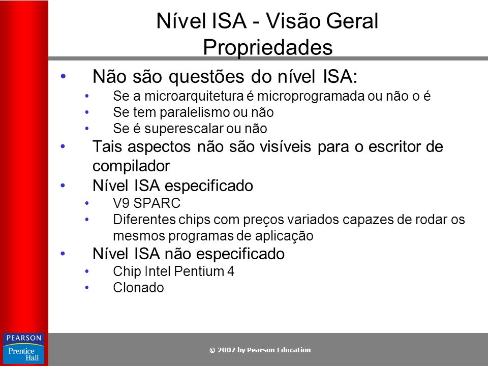 Nível ISA - Visão Geral Propriedades