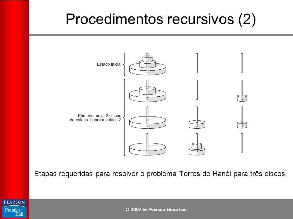 Procedimentos recursivos (2)