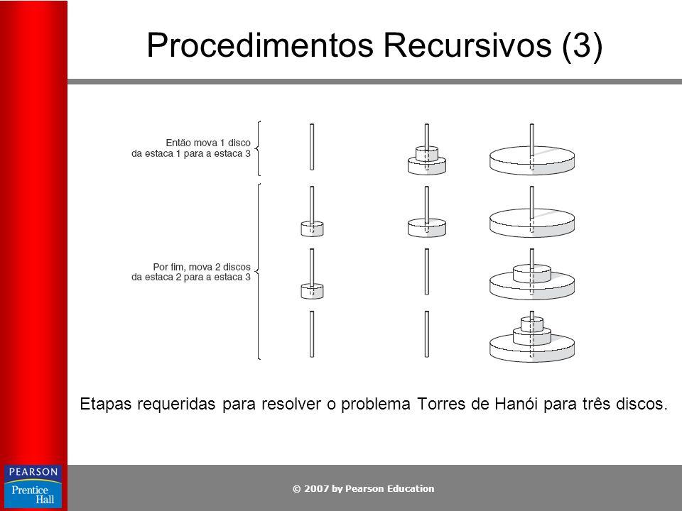 Procedimentos Recursivos (3)