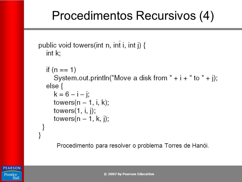Procedimentos Recursivos (4)