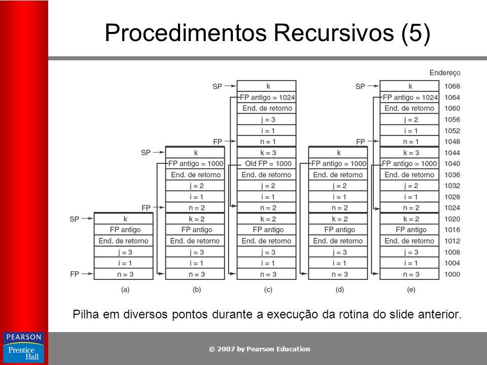 Procedimentos Recursivos (5)