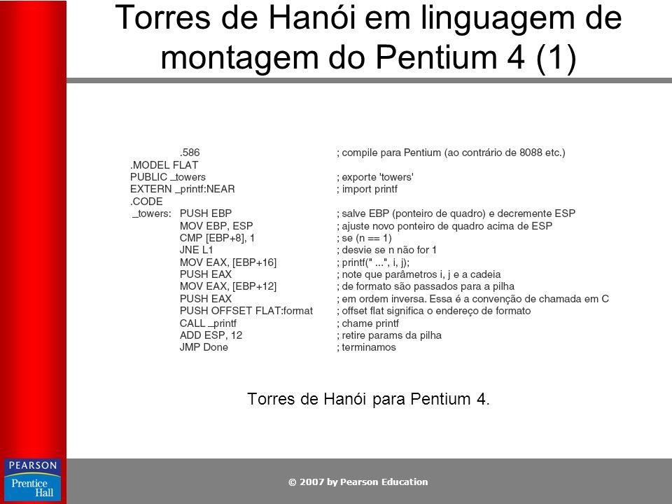 Torres de Hanói em linguagem de montagem do Pentium 4 (1)