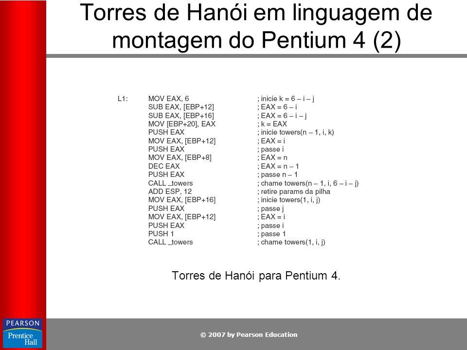 Torres de Hanói em linguagem de montagem do Pentium 4 (2)