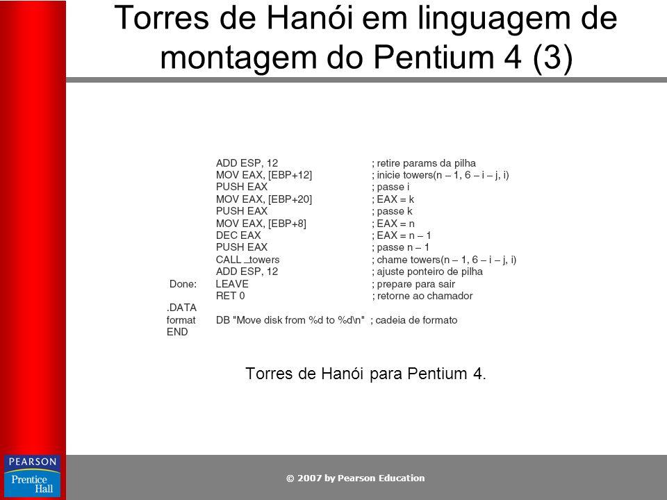 Torres de Hanói em linguagem de montagem do Pentium 4 (3)