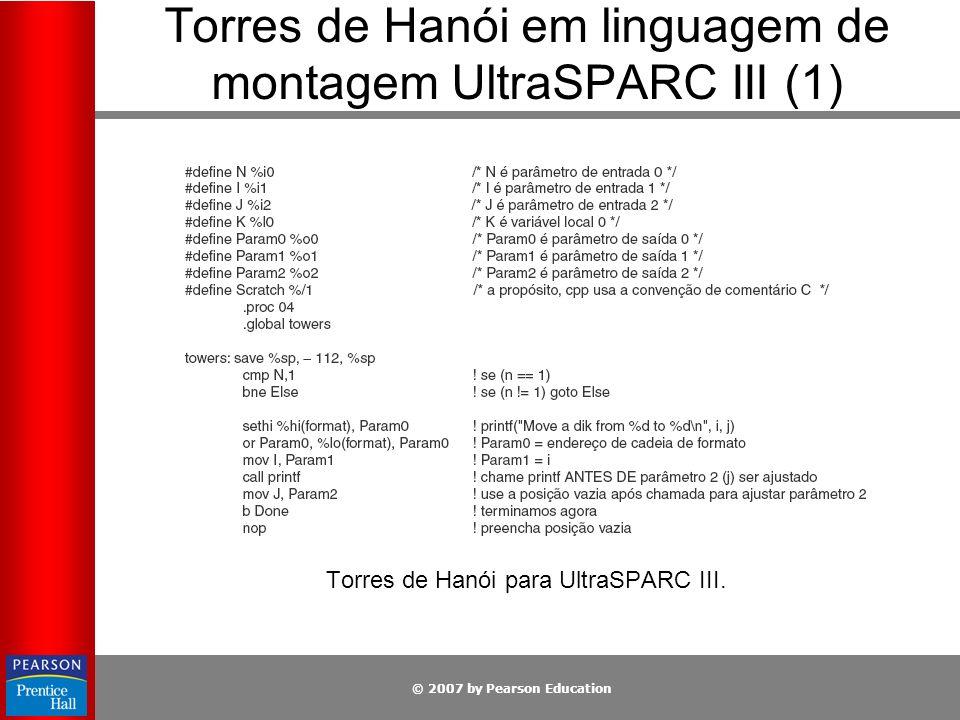 Torres de Hanói em linguagem de montagem UltraSPARC III (1)