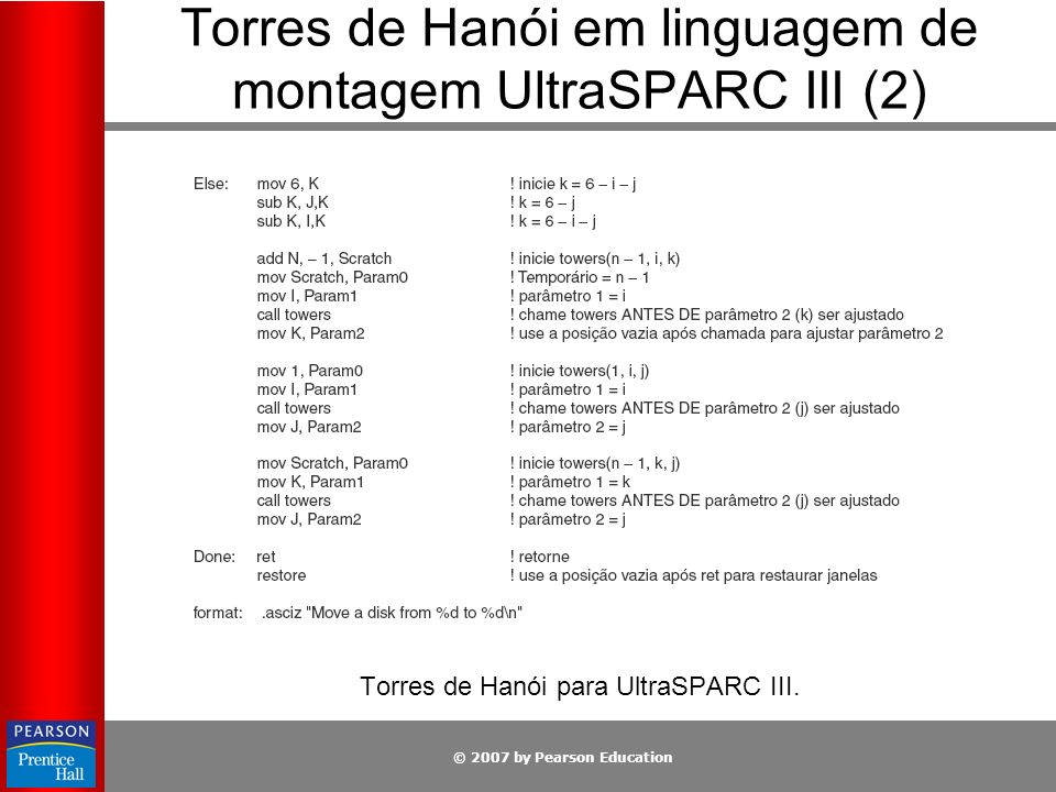 Torres de Hanói em linguagem de montagem UltraSPARC III (2)