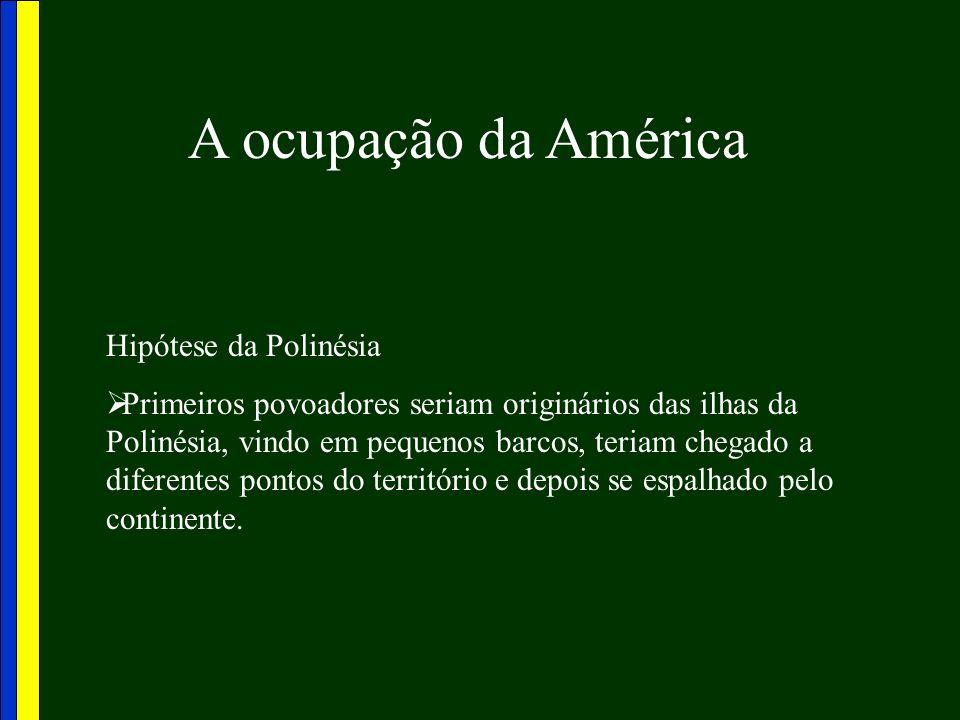 A ocupação da América Hipótese da Polinésia