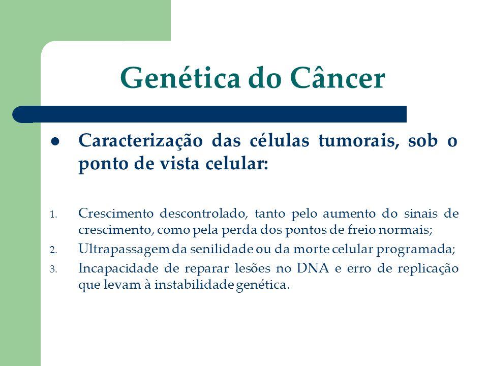 Genética do Câncer Caracterização das células tumorais, sob o ponto de vista celular: