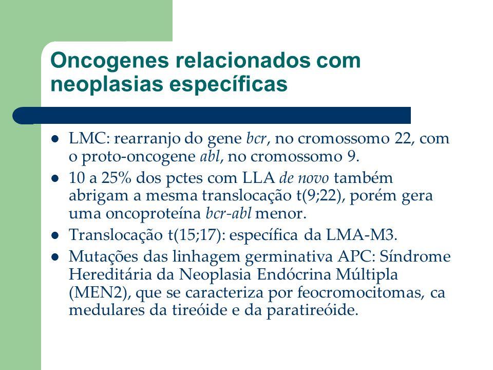 Oncogenes relacionados com neoplasias específicas