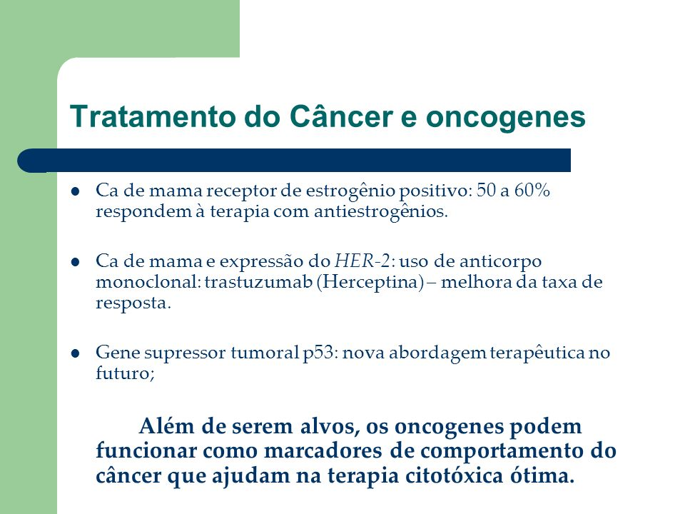 Tratamento do Câncer e oncogenes