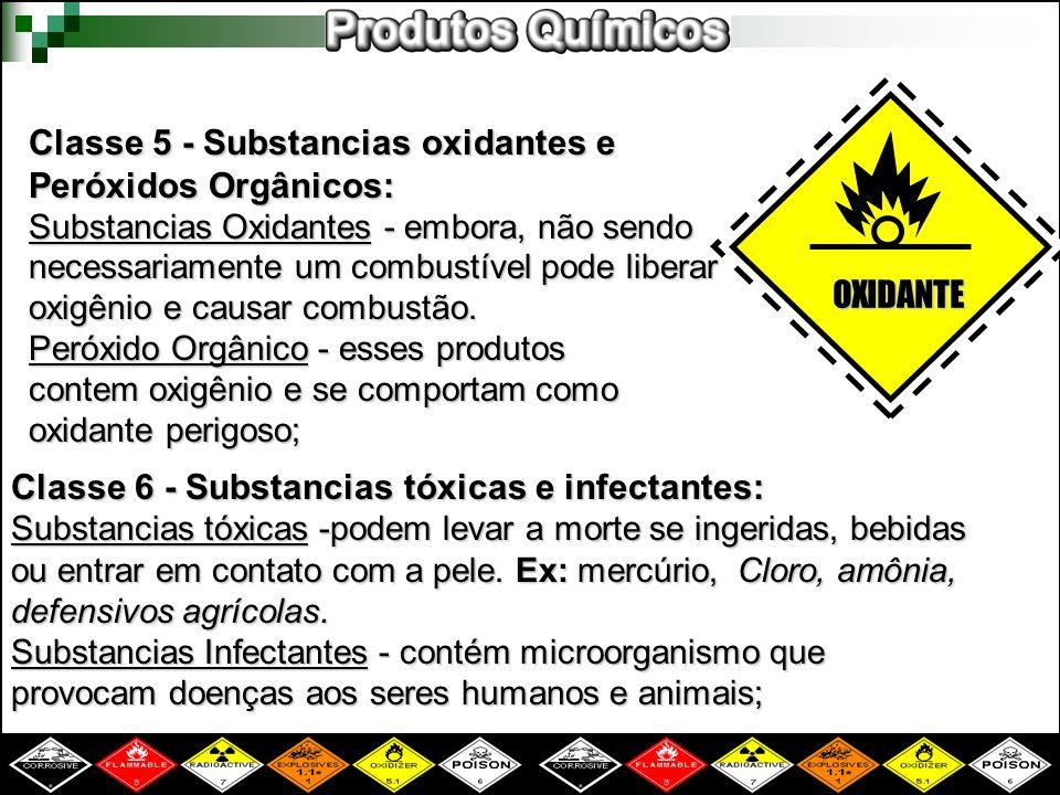 Classe 5 - Substancias oxidantes e Peróxidos Orgânicos: