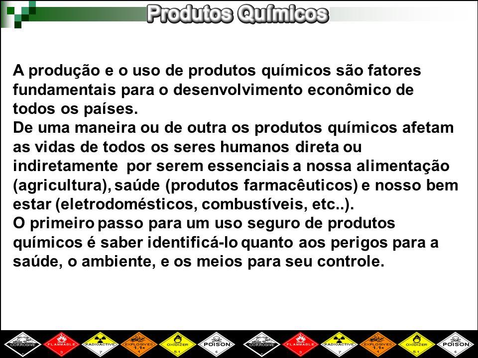 A produção e o uso de produtos químicos são fatores fundamentais para o desenvolvimento econômico de todos os países.