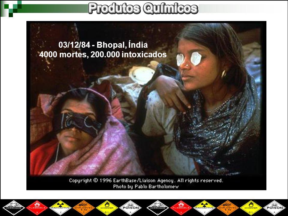 03/12/84 - Bhopal, Índia 4000 mortes, 200.000 intoxicados