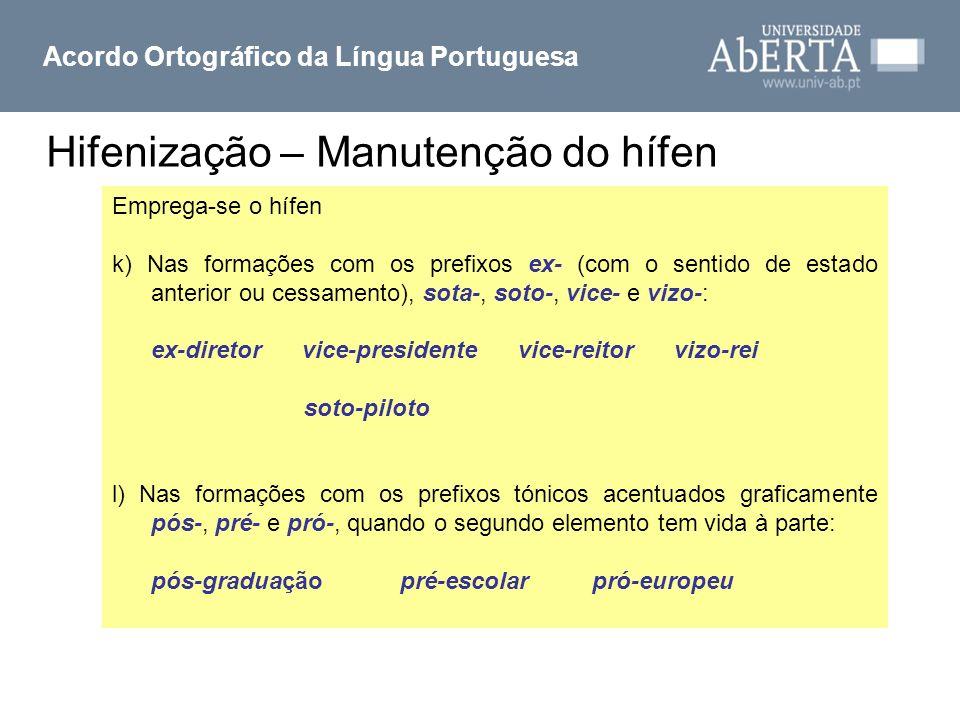 Acordo Ortográfico da Língua Portuguesa