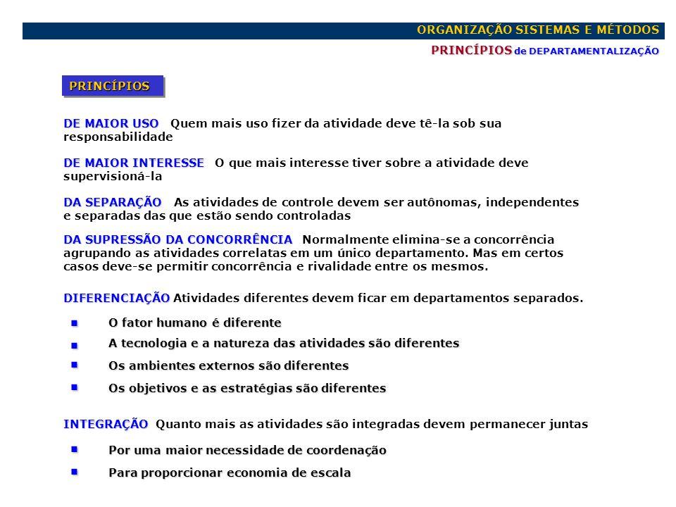 . ORGANIZAÇÃO SISTEMAS E MÉTODOS PRINCÍPIOS