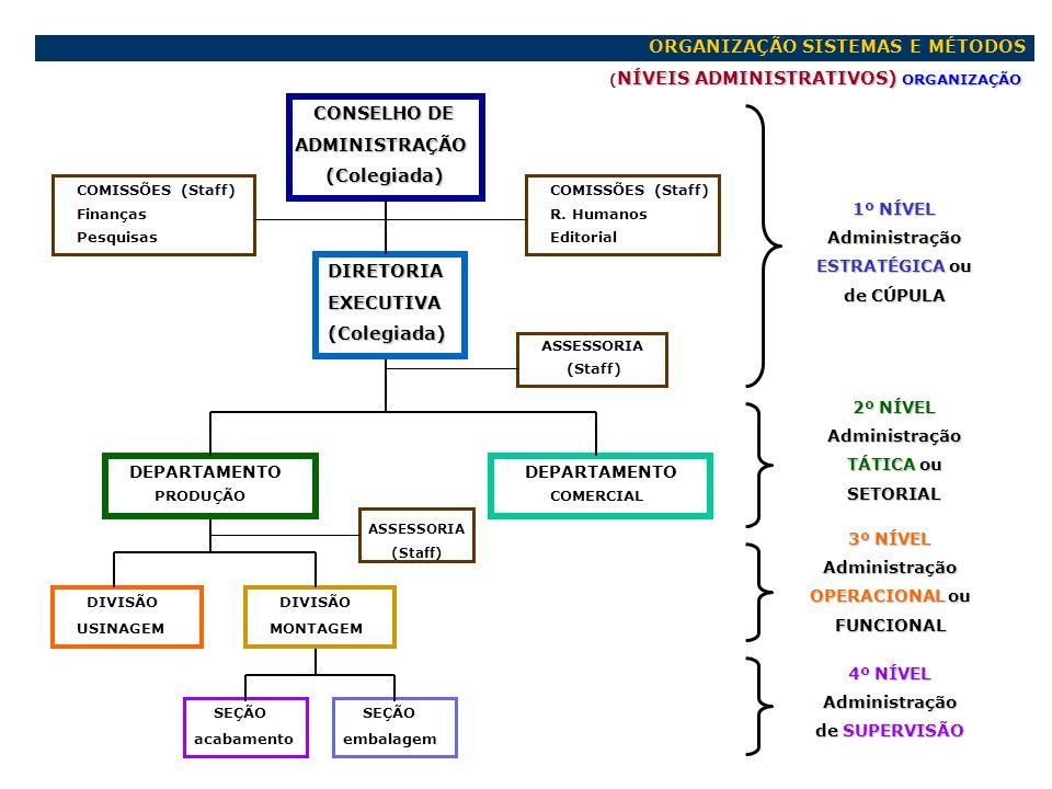 ORGANIZAÇÃO SISTEMAS E MÉTODOS