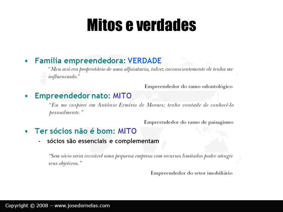 Mitos e verdades Família empreendedora: VERDADE