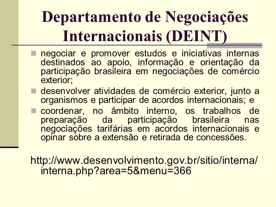 Departamento de Negociações Internacionais (DEINT)
