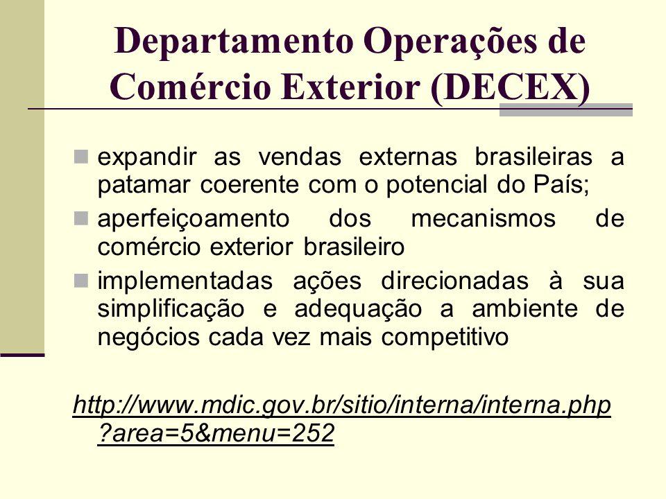Departamento Operações de Comércio Exterior (DECEX)