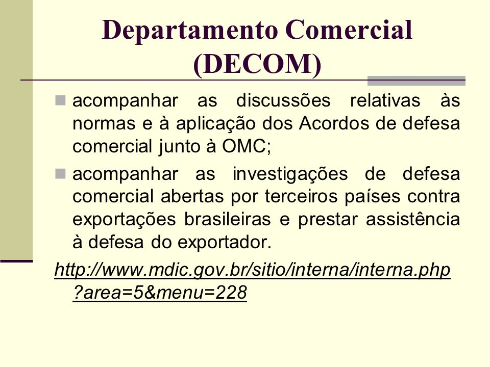 Departamento Comercial (DECOM)
