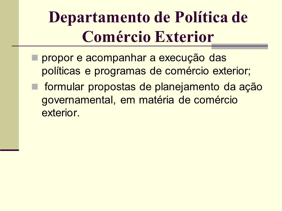 Departamento de Política de Comércio Exterior
