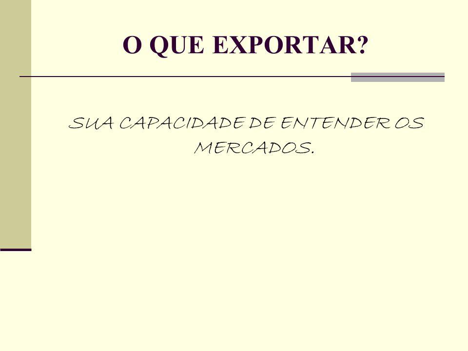 SUA CAPACIDADE DE ENTENDER OS MERCADOS.