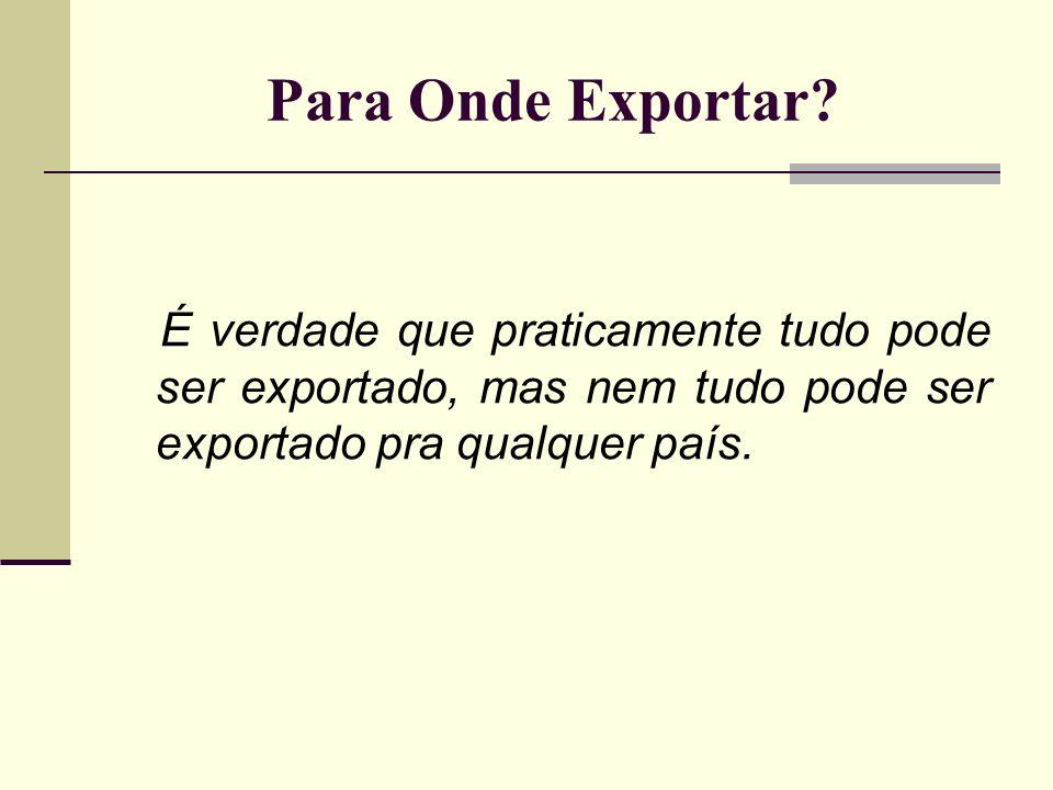Para Onde Exportar.