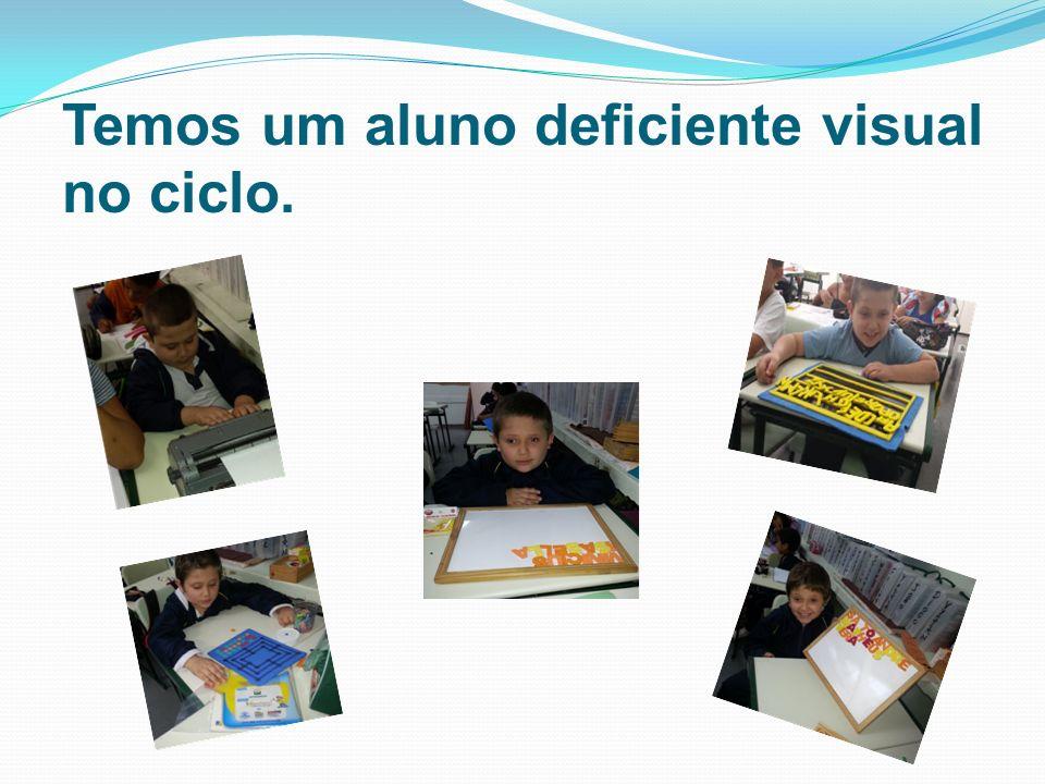 Temos um aluno deficiente visual no ciclo.