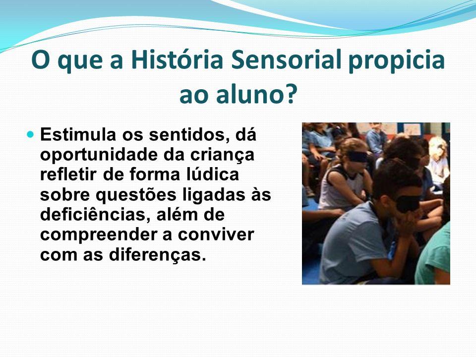 O que a História Sensorial propicia ao aluno