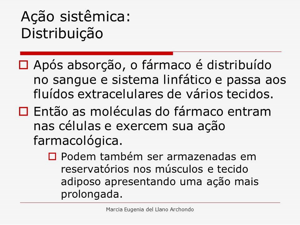 Ação sistêmica: Distribuição