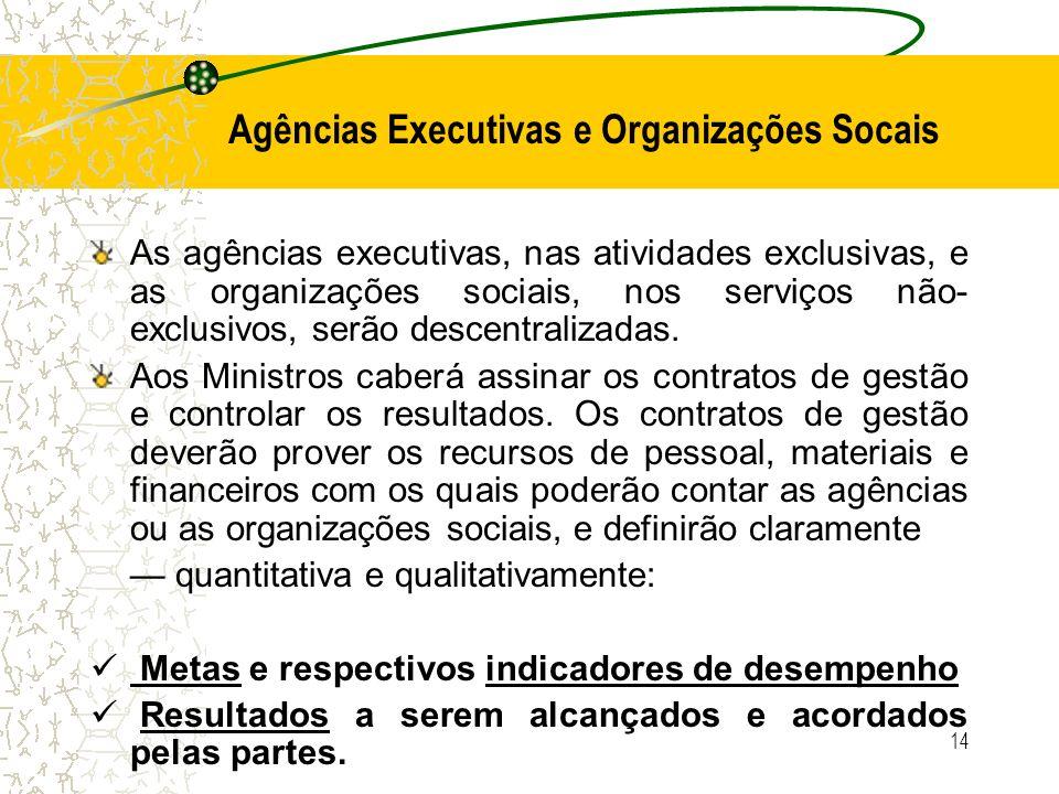 Agências Executivas e Organizações Socais